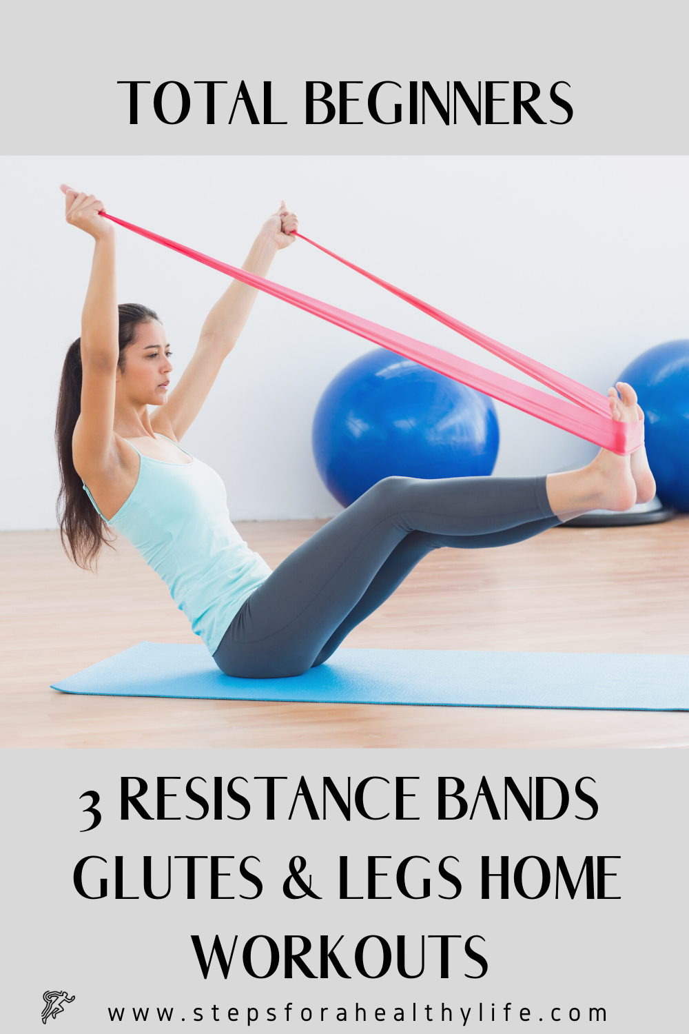 3 RESISTANCE BANDS FOR GLUTES  LEGS HOME WORKOUTS FOR BEGINNERS