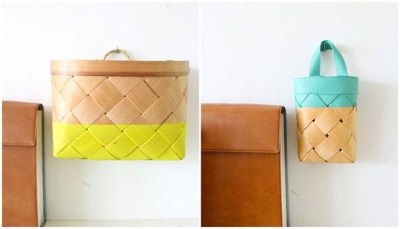 pärekorit,kierrätysmateriaali,neon,tee-se-itse,Tee itse - DIY
