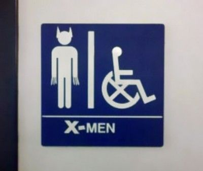 Bathroom Sign Memes mutants only (find more funny bathroom signs at funnysigns