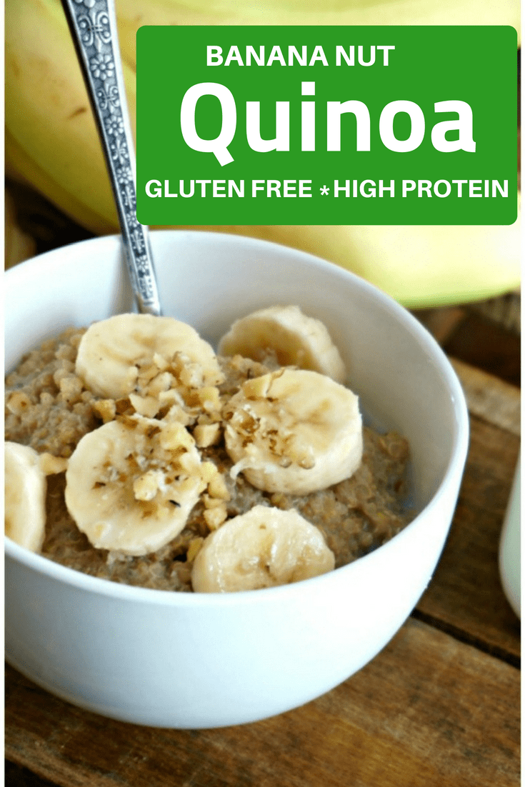 Banana Nut Quinoa Porridge: Start your day with a protein-packed, calcium rich bowl of Banana Nut Q