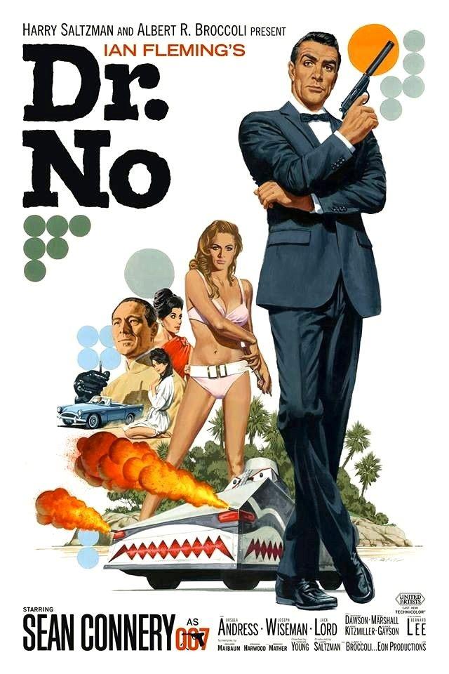Dr. No James Bond vintage movie poster | Mejores carteles de ...