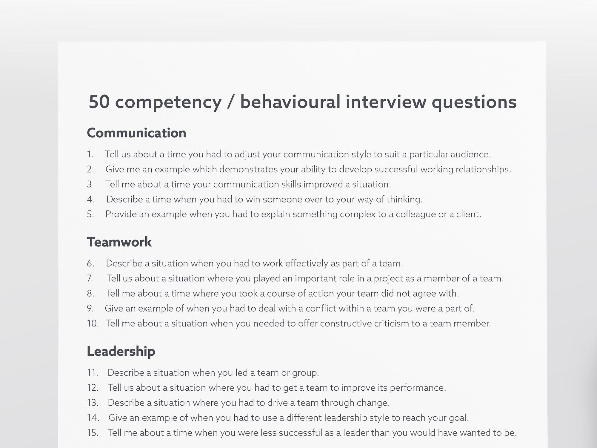 Job Interview Bundle includes Checklist, Guide, Workbook