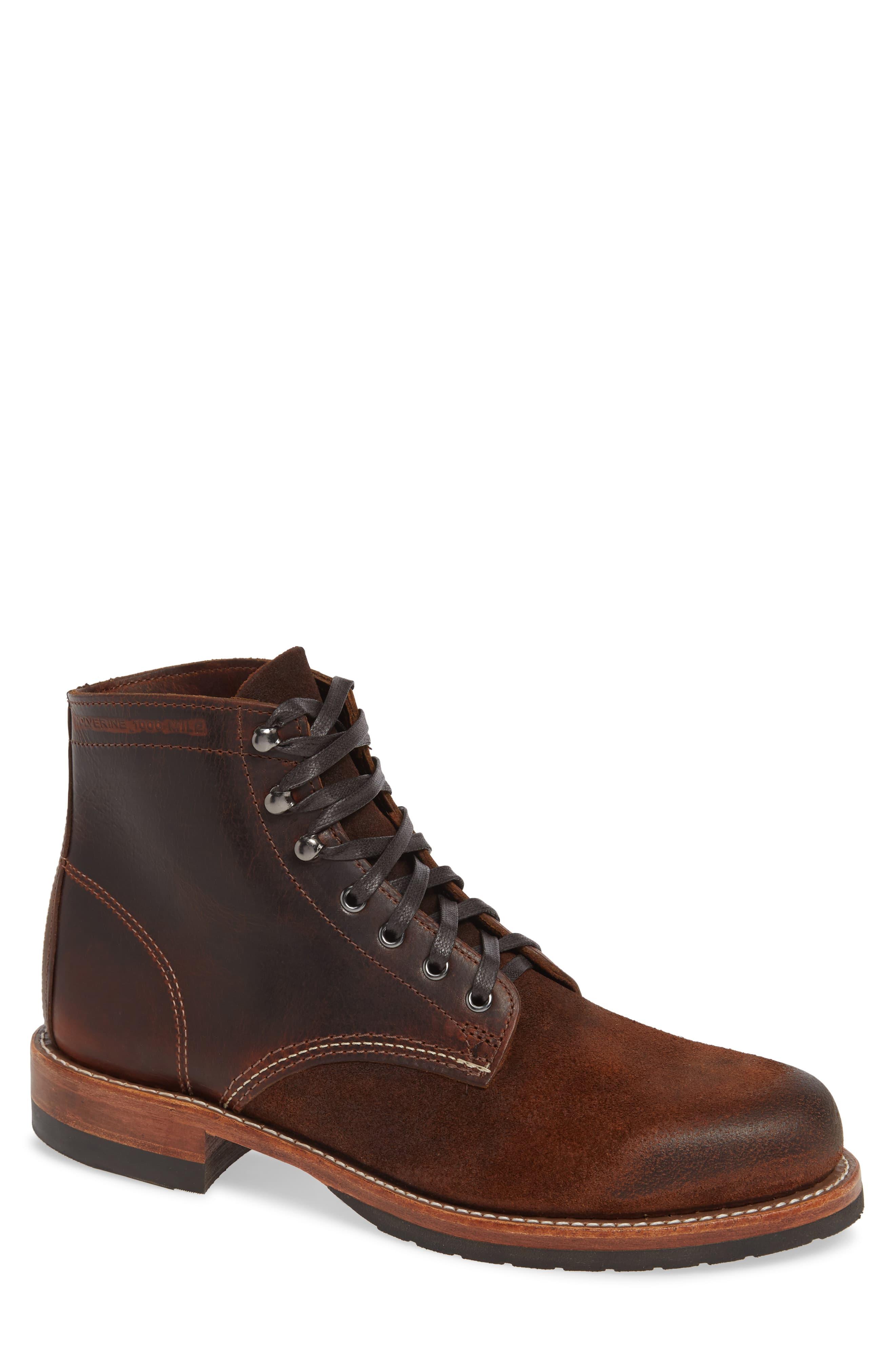 d6ca06210d0 Men's Wolverine 1000 Mile Evans Plain Toe Boot, Size 9 D - Brown in ...