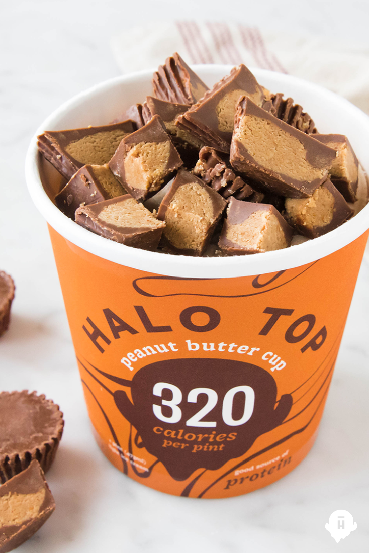 Halo Tops Peanut Butter Cup Ice Cream Is Only 320 Calories For The Whole Pint