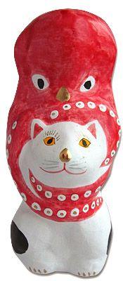 相良人形の猫に蛸 猫 人形 猫 フェルト 猫