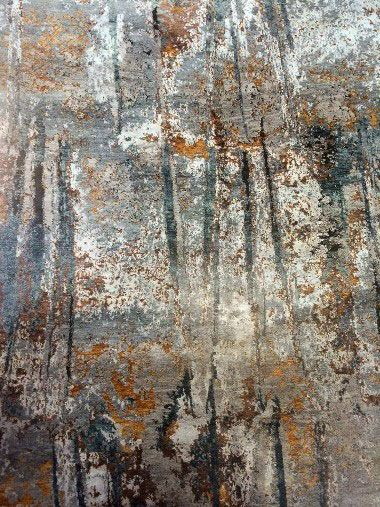 area rug by tufenkian - luminance rusty slate | area rug trends