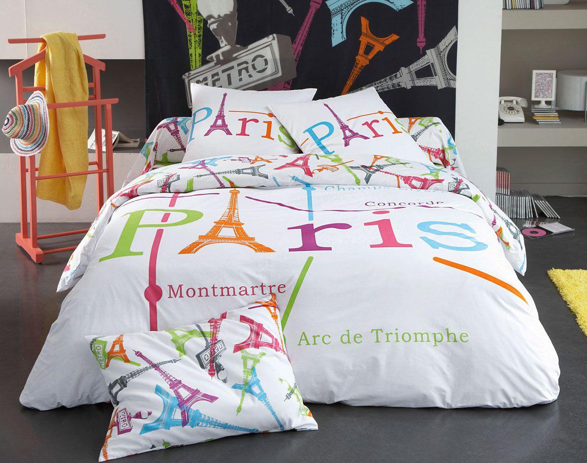 Housse De Couette Tour Eiffel 140X200