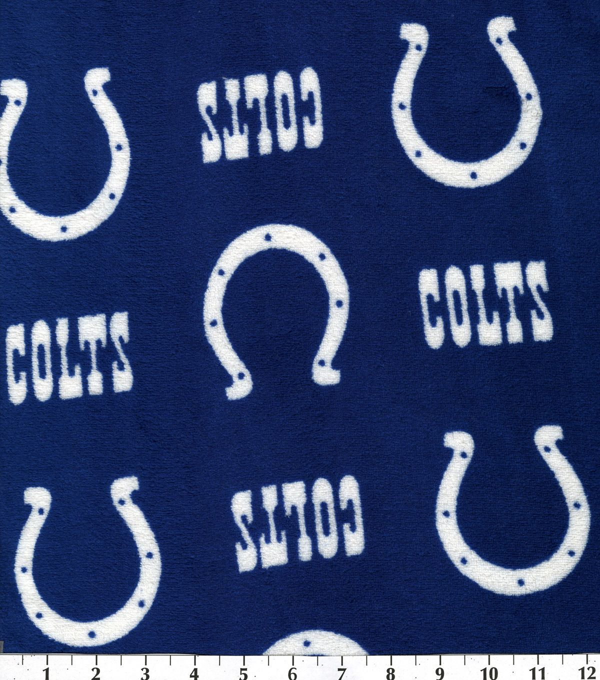 Indianapolis colts nfl ultra fluffy fleece fabric indianapolis