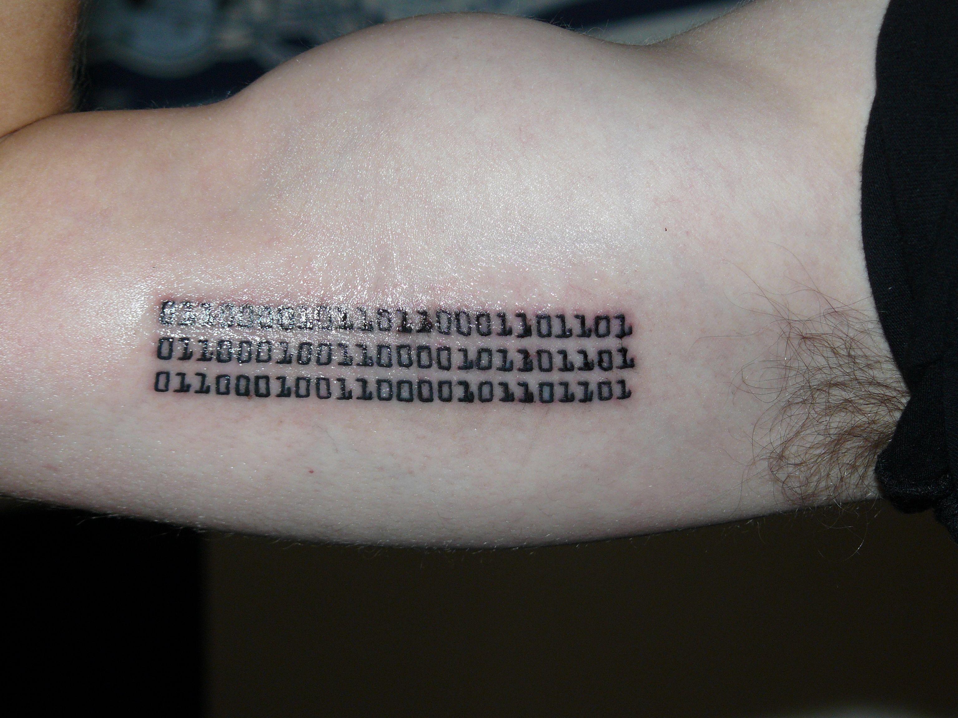 Computer code tattoos top binary code tattoo designs