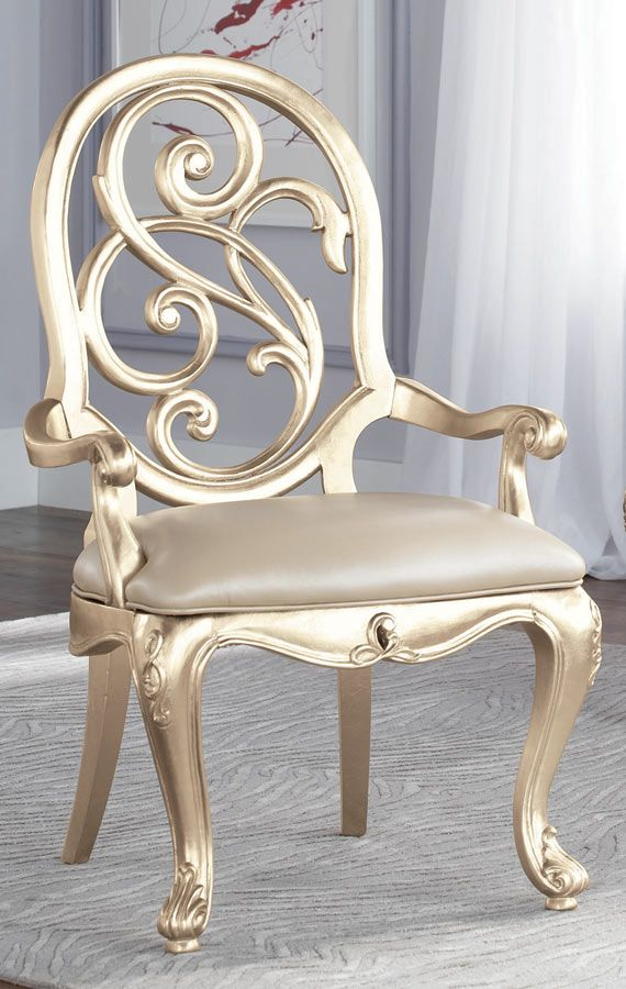Paint the dining table chairs a metallic/shimmery color ...
