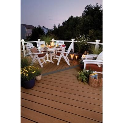 Trex Enhance 1 In X 6 In X 12 Ft Beach Dune Grooved Edge Capped Composite Decking Board Bd010612eg01 The Home Depot Building A Deck Deck Cost Deck Building Cost