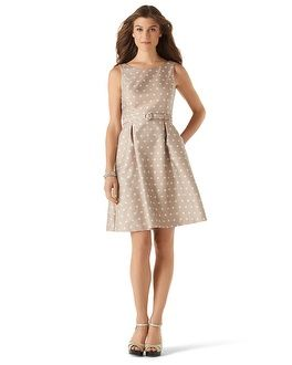 11dfcdc98b625 White House | Black Market Polka Dot Fit & Flare Dress #whbm $170 -  Possibility for Walt and Ellen's wedding and my bridal shower.