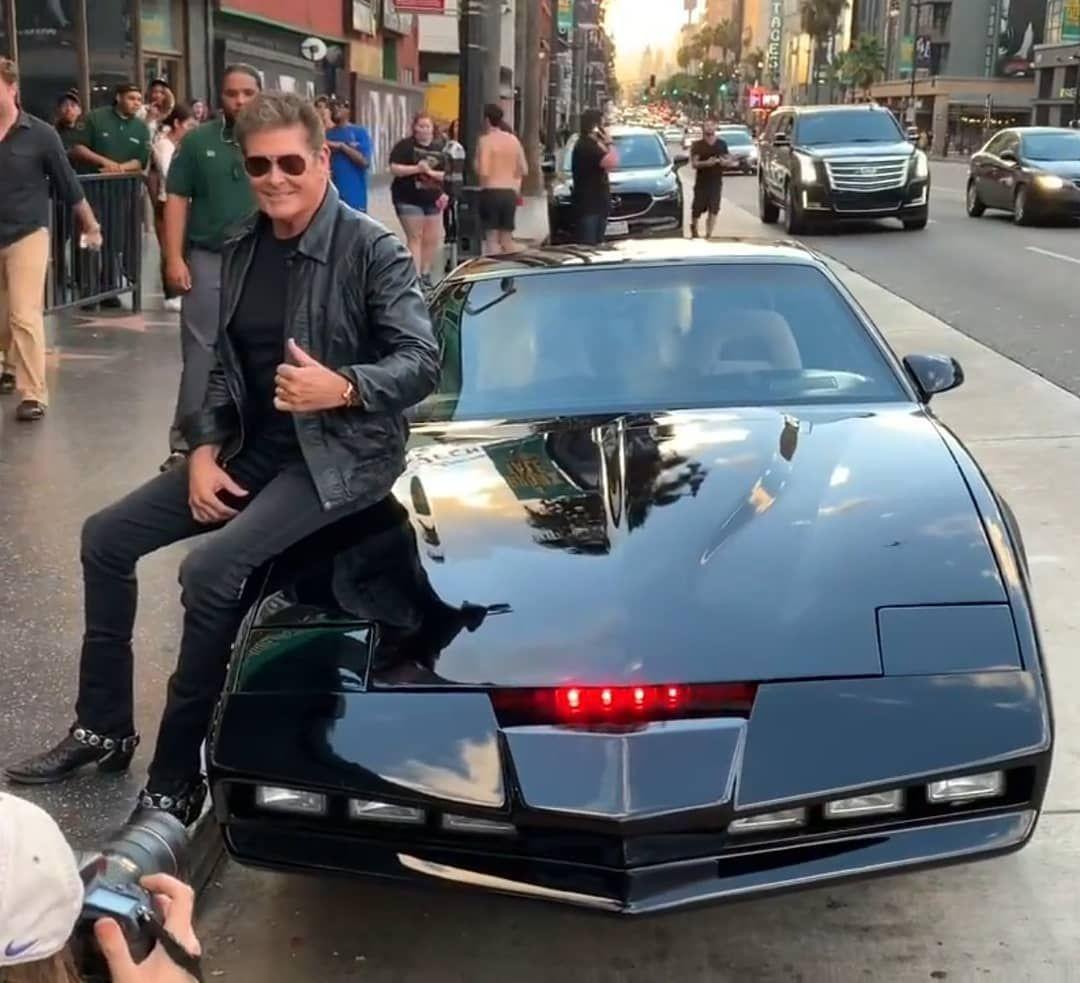 David Hasselhoff And His Buddy Kitt Knight Rider Buddy Rider