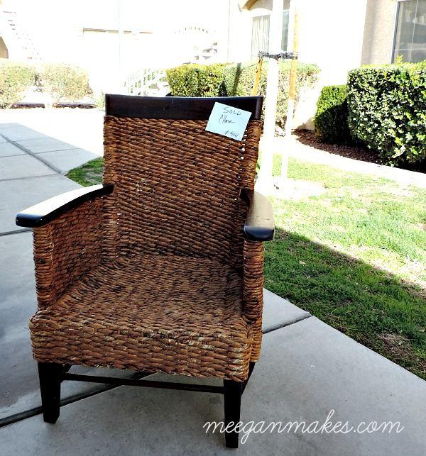 How To Repair a Rattan Chair  Betsys Pins  Chair