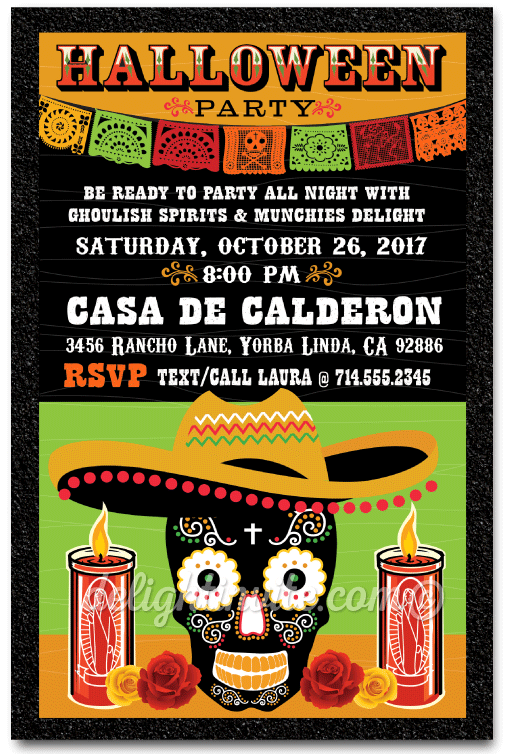 Day of the dead halloween invitation dia de los muertos halloween day of the dead halloween invitation dia de los muertos halloween party invites for adults m4hsunfo