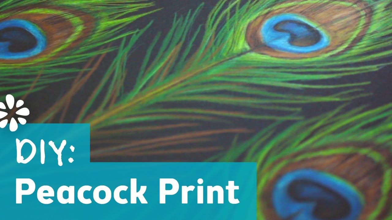 How To Draw A Peacock Print This Tutorial Shows How To Draw