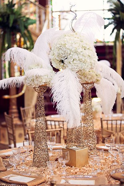 Gatsby Theme Great Wedding Centerpieces