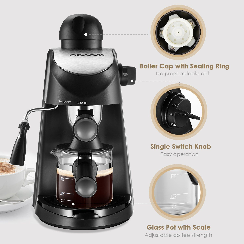 AICOOK Espresso Machine 3.5Bar Espresso Coffee Maker