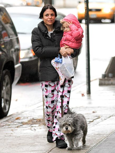 BETHENNY FRANKEL keeps company with her girls, daughter Bryn and dog Cookie, while out in New York on Sunday.