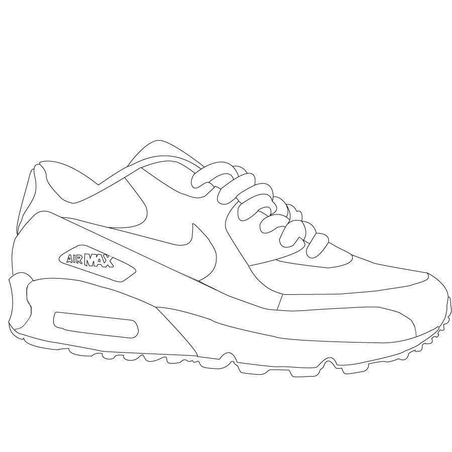 Air Jordan Shoes Coloring Sheets | Sneakers drawing, Curvy ...