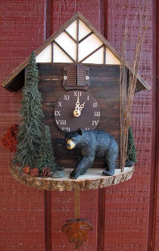 Black Bear Cuckoo Clock (blackforestworks on Etsy) $200