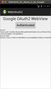 Android performing OAuth2 Authorization using WebView | dgsj