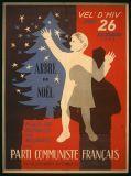 Arbre de Noël pour les enfants des militants du parti communiste français fusillés, morts au combat ou en déportation.  Date : 1946  Auteur : Georges Rival  Editeur : Deco-Centre