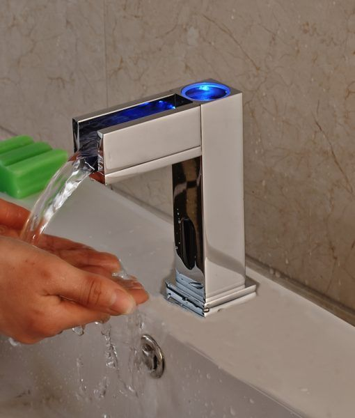 Manoa HandsFree LED Bathroom Sink Faucet with Motion Sensor ...