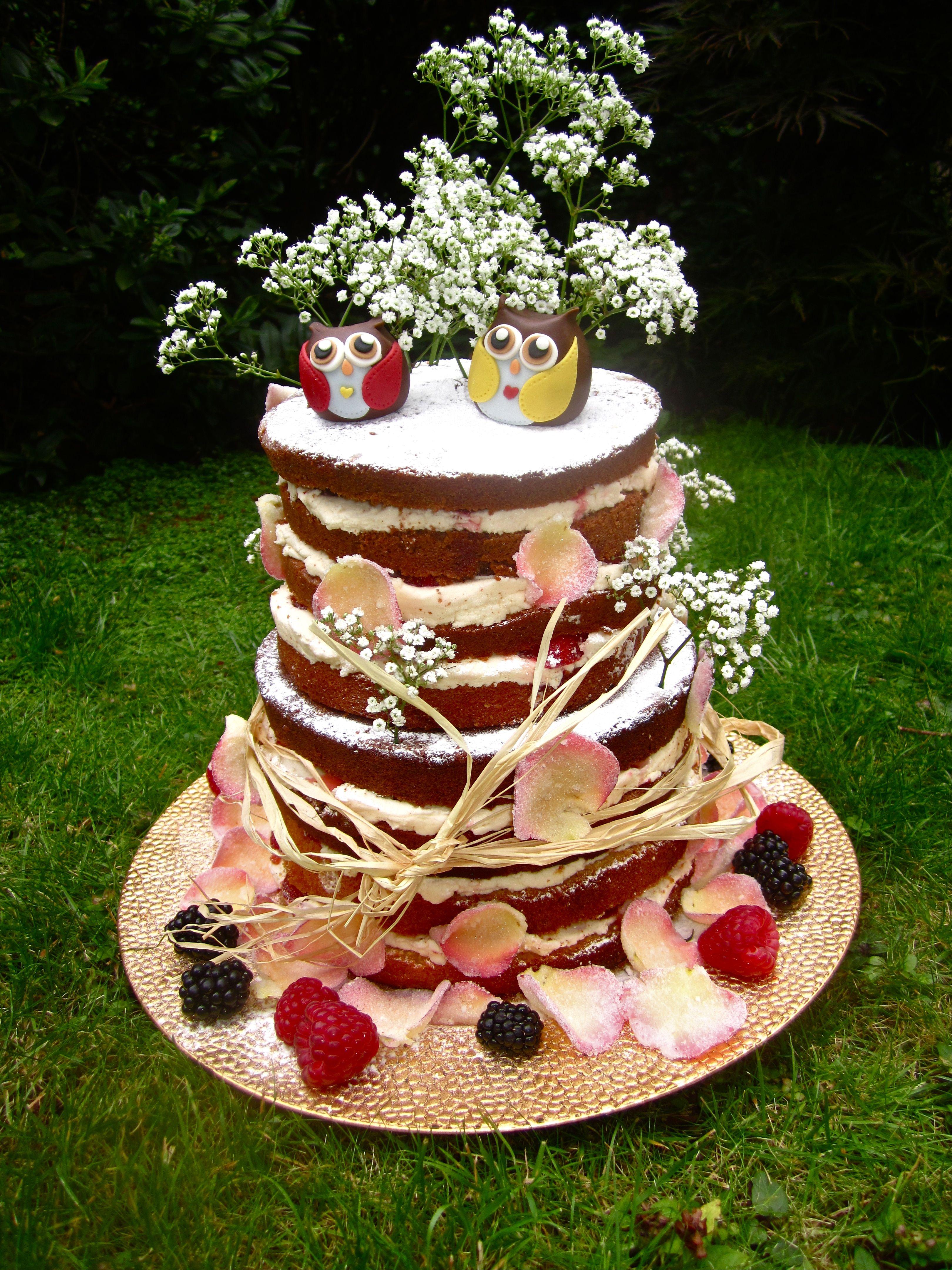 Naked Wedding Cake 8 Layers Of Victoria Sponge With Vanilla Buttercream Strawberry Jam