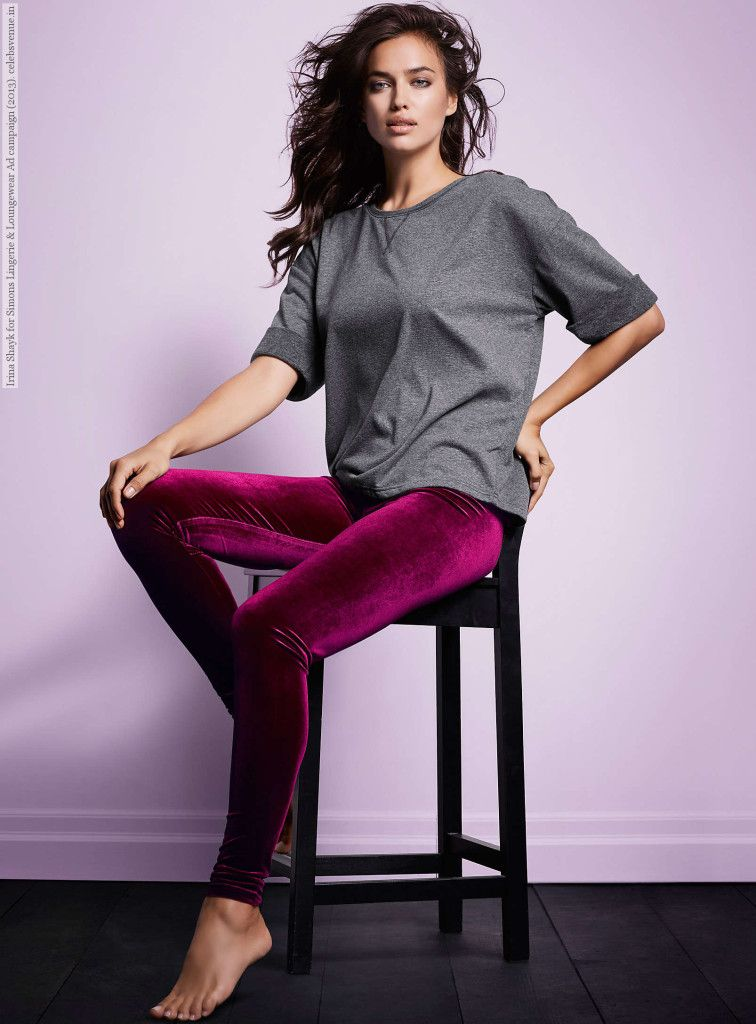 Irina Shayk for Simons Lingerie & Loungewear Ad campaign (2013)