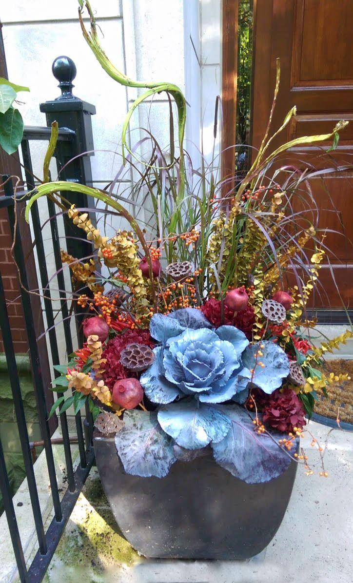 Fall annuals container planter entry urban garden fall annuals container planter entry urban garden landscape design izmirmasajfo