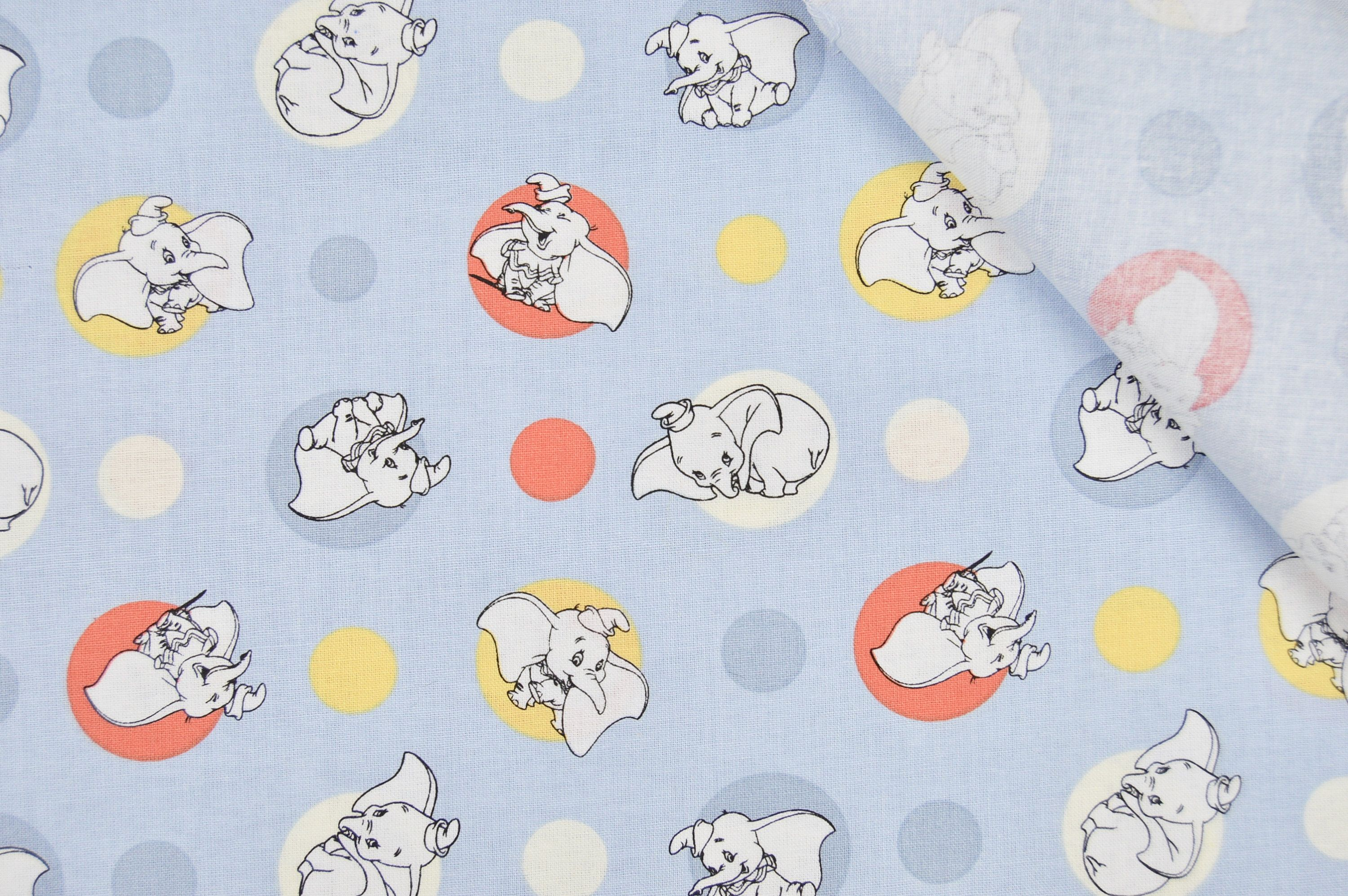 1eab8561bd1 NEW Disney Dumbo Fabric, Springs Creative Fabrics, Polka Dots Cotton  Material, Design CP66397