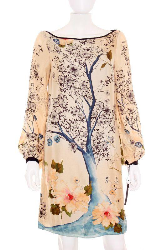 88b74c6c5 Diseño original oriental. Vestido Mujer - Zara Woman de Seda con ...
