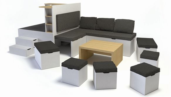 Matroshka Multi Functional Furniture Perfect For Small