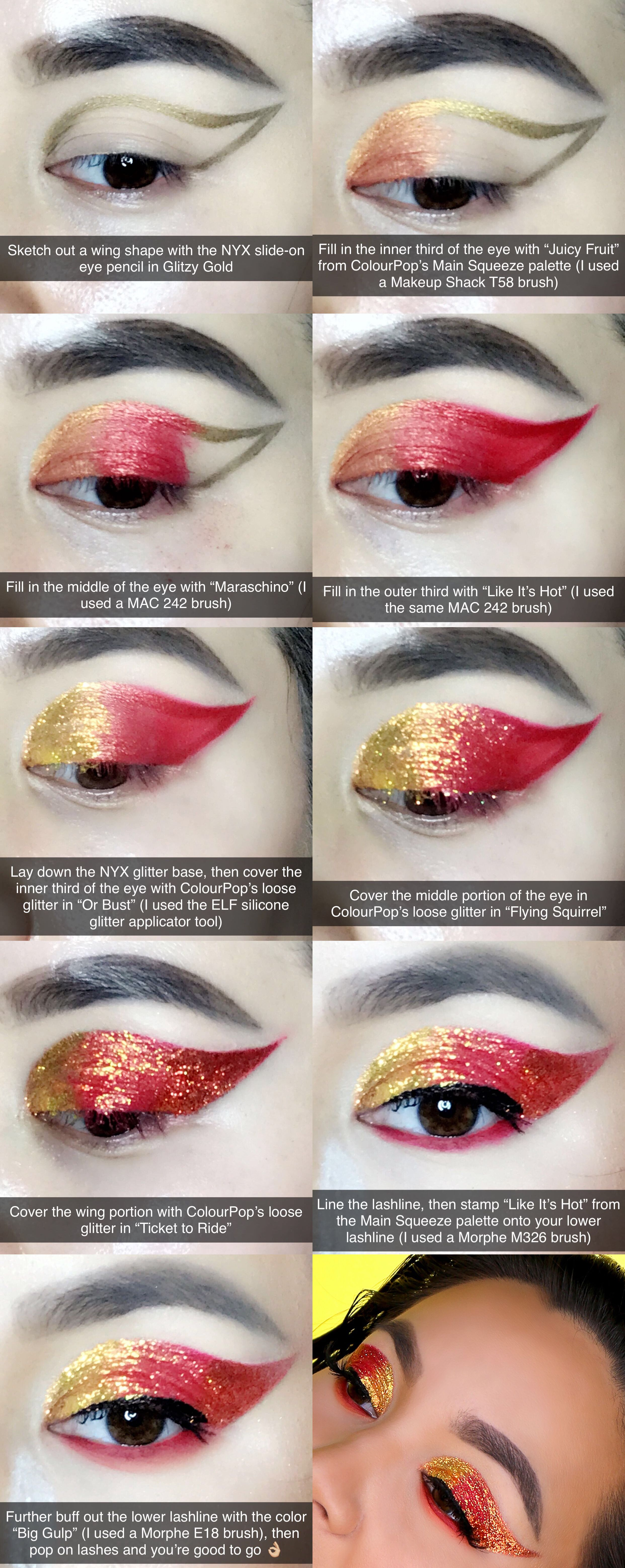 Here's a stepbystep tutorial of a glitter winged