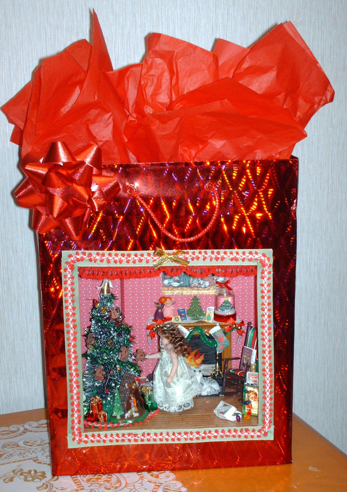 My musical light up Christmas gift bag | Miniature Projects by me ...