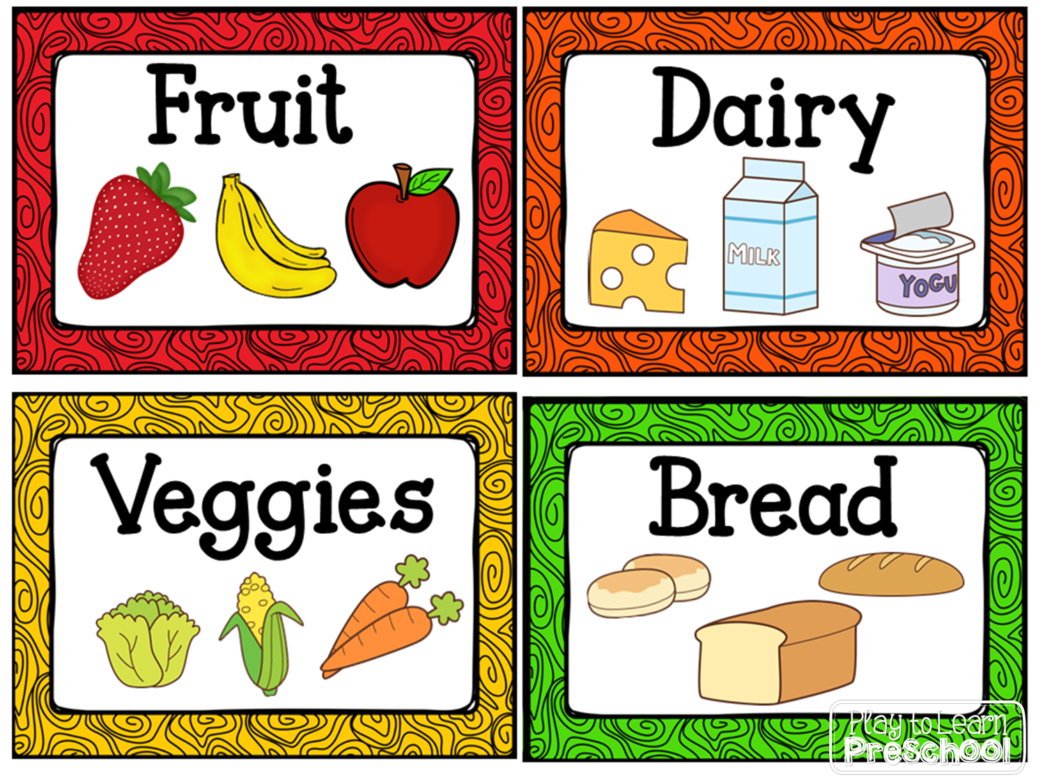 Play kitchen clip art - Free Labels For The Housekeeping Center Dramatic Play Kitchen From Play To Learn Preschool