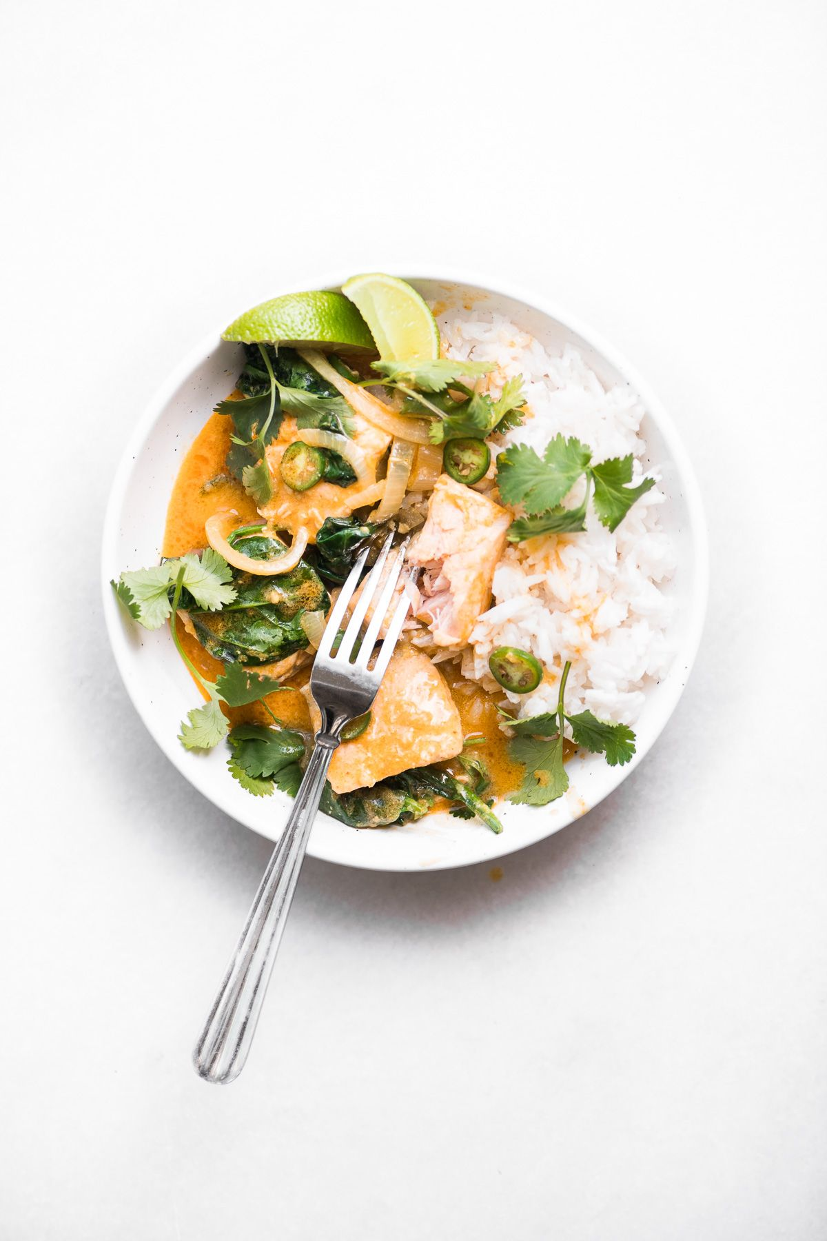 Salmon Coconut Curry is an easy weeknight dinner bowl thats on the table in less than 30 minutes This easy Thai curry is healthy and delicious