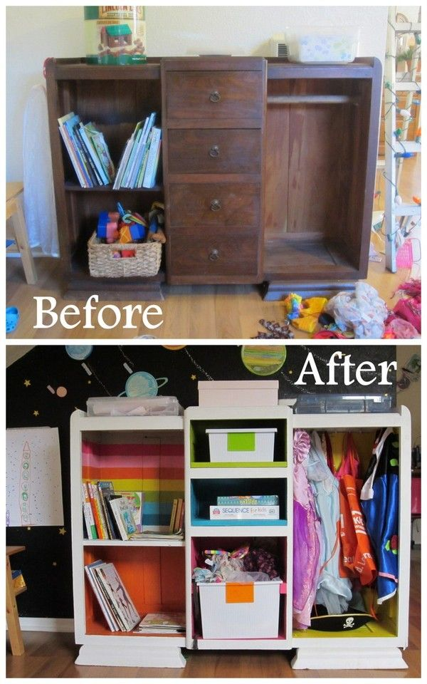 Merveilleux DIY Dress Up Cabinet, Kids Closet, Costume Storage, Before/after Armoire,