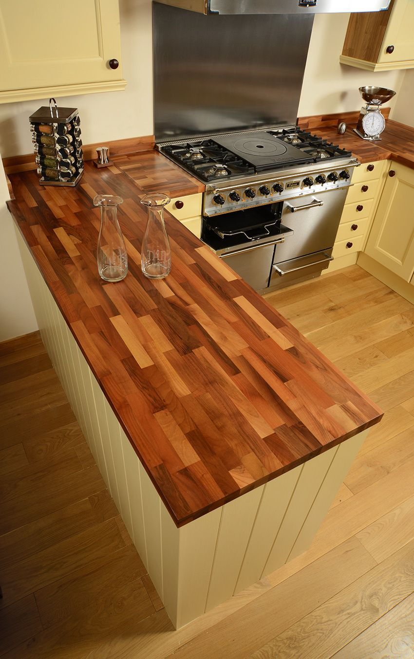 Bring Unique Rustic Charm To Your Kitchen With A Fantastic Solid Walnut Worktop From Worktop Express Http Www Wood Worktop Kitchen Layout Kitchens Direct