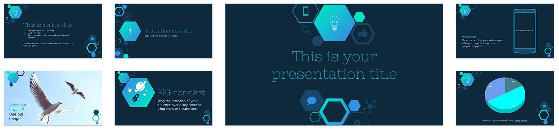 featured template: imogen | technology | pinterest, Presentation templates