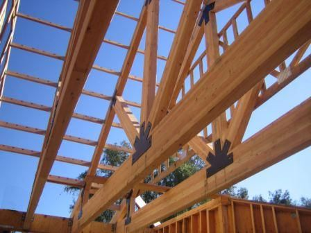 Exposed Glulam Truss With Metal Plates Rocklin Ca In