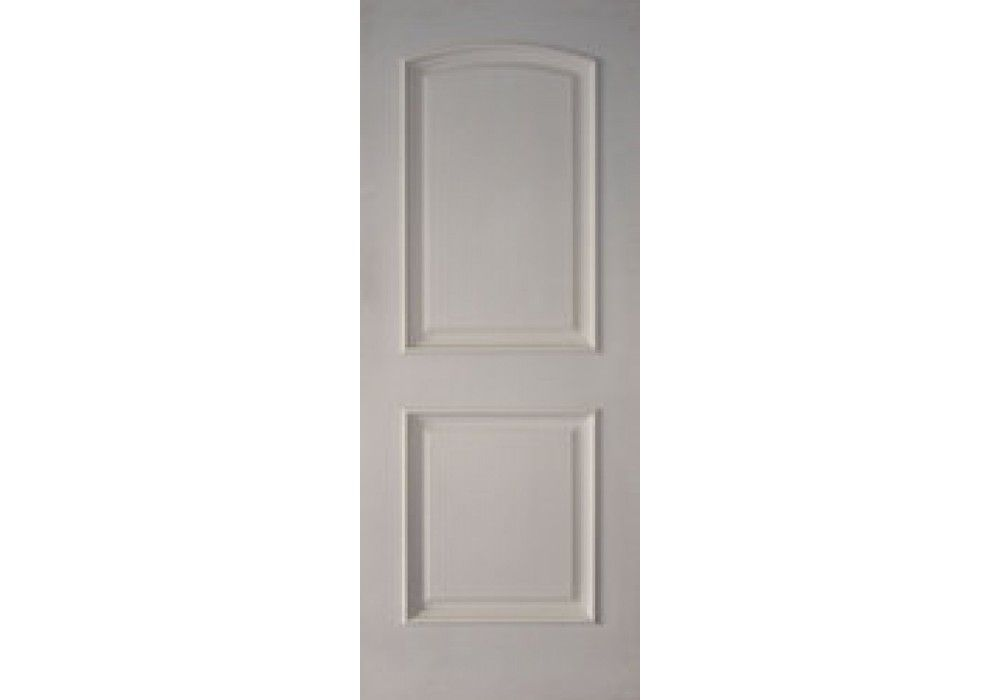 2prms 2 Panel Arched Top White Primed With Raised Moulding 1 3 4 Solid Core Interior Doors Doors Interior Blue Interior Doors