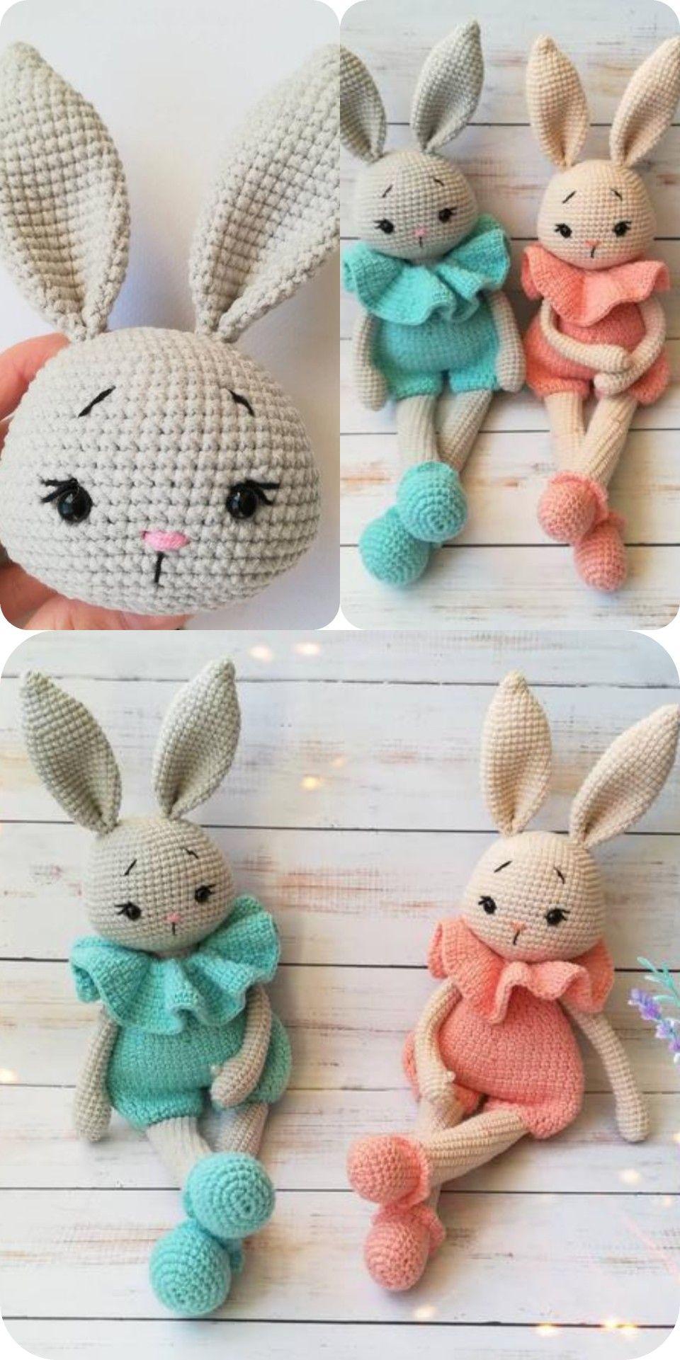 Crochet bunny pattern in english amigurumi toy doll pdf
