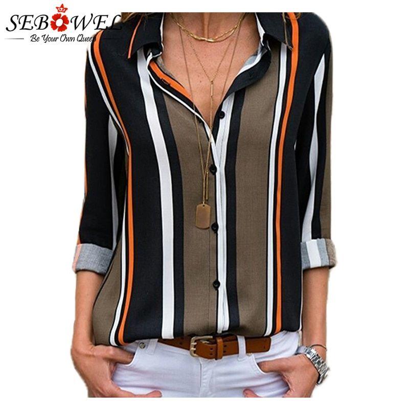 653dc9c9db264 Black-Brown-Striped-Modern-Women-Shirt-LC251389-2-1