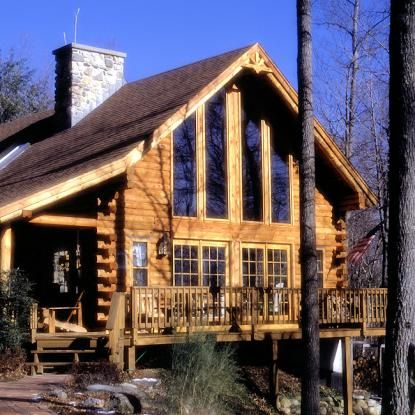 Pin By Real Log Homes On Real Log Homes Mountain Cabin Decor Stone Houses Log Cabin Homes