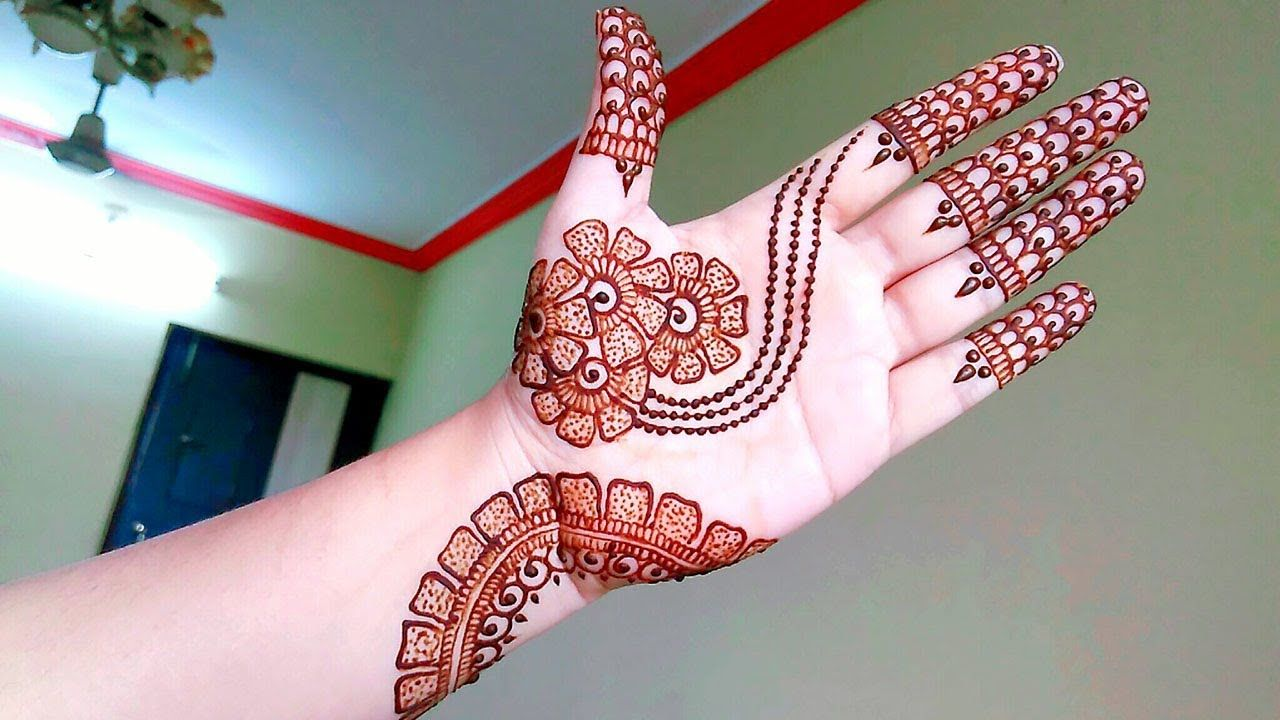 Front Hand Stylish Front Hand Simple Mehndi Designs