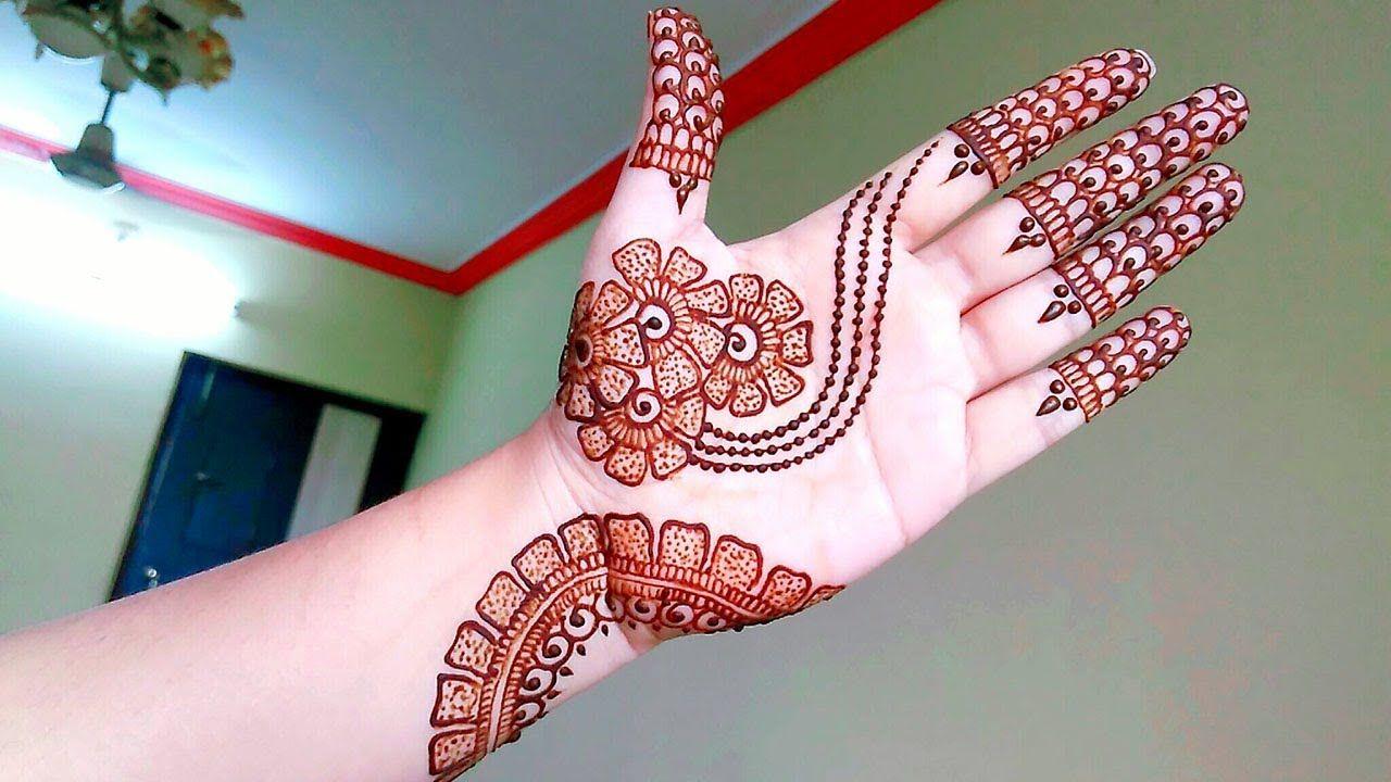 Elegant Arabic Henna Mehndi Design for beginners Naush