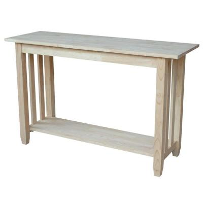 International Concepts Unfinished Console Table Bj6s Sofa End
