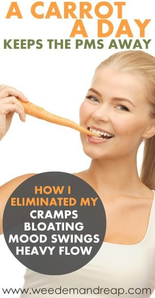 Hold the phone. Stop what you're doing. Pause the TV. I have found the secret to eliminating those horrible period symptoms for good. Listen ... #health #carrot #remedy #natural